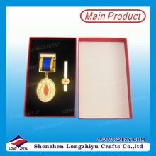 Kundenspezifische Metall-Gedenkmedaille mit Box