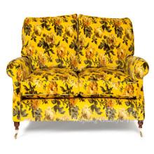 Estofos flocagem tecido de linho olhar para o sofá