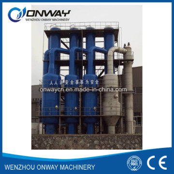 De acero inoxidable Titanium Vacuum Film Evaporation Crystallizer Planta de tratamiento de efluentes de aguas residuales