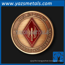customize metal coins, custom high quality Jordan special forces coin
