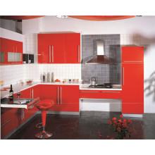 Cabinet de cuisine en forme de L en forme de PVC pour l'utilisation du projet