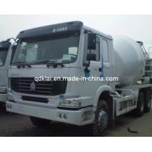 Caminhão do misturador concreto da capacidade de Sinotruck HOWO 6X4 9cbm
