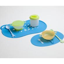 Bebê para comer Mat-2 PCS One Set-Silicone