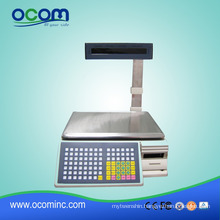 TM-15Aa-5D --- Supermarket Use 15KGS Max Weighing Barcode Sticker Printing Available Barcode Weighing Scales