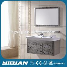 Vanité de salle de bain en acier inoxydable