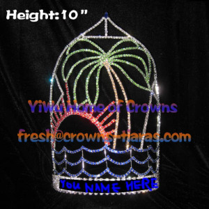 10inch Tall Palm Tree Summer Pageant Crowns