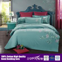 Bordado Design Egípcio Algodão Bed Linen Bedding Set