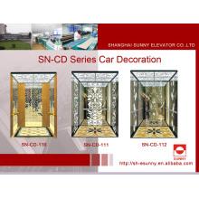 Cabine d'ascenseur St. St Frame avec panneau d'éclairage en acrylique blanc (SN-CD-110)