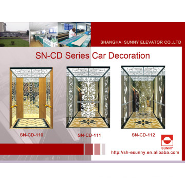 Elevator Cabin St. St Frame with White Acrylic Lighting Panel (SN-CD-110)