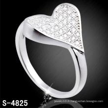 Bague en argent sterling 925 avec forme de coeur (S-4825)