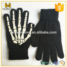 Customized new printing knitted fashion winter gloves for men