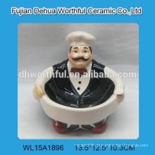 Kreatives Design Keramik Schüssel mit Chef Design