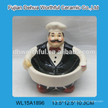 Cuenco de cerámica de diseño creativo con diseño de chef
