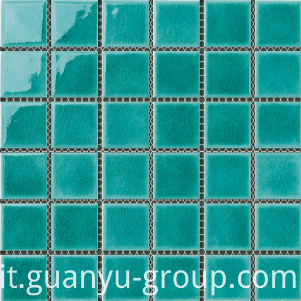 Green Swimming Pool Mosaic