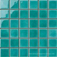 Telha de mosaico de porcelana verde