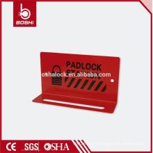 Station de cadenas en acier au carbone rouge BD-B31, station d'étiquetage de verrouillage