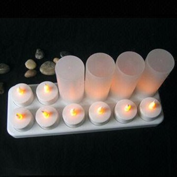 wax-less Rechargeable LED Tealight Candle