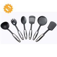 Low MOQ 6 pieces food grade FDA Nylon kitchen utensils set for sale