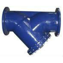 Y strainer in end cast steel