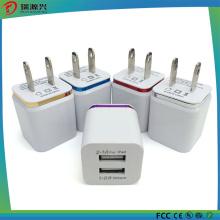 Carregador duplo 5V 2.1A 5V1.0A da parede de USB do carregador home da parede de USB do curso