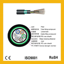 Câble de fibre optique Gyty53 blindé imperméable à l'eau