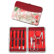 Flower Lady Handbag 8Pcs Portable Manicure Pedicure Set