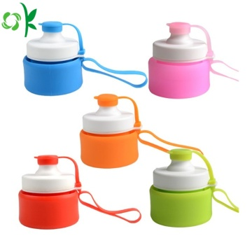 Fashionabla Foldable Silicone Travel Camping Cup med lock