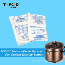25g Montmorillonite Clay Desiccant with Tyvek Paper Packaging for Cooker′s Display Screen
