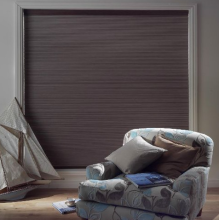 Pleated blinds cordless