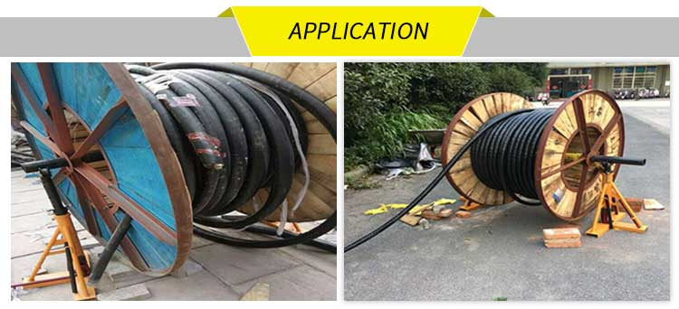 applications of cable reel stand