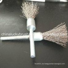 50mm eje de acero inoxidable final de alambre cepillo de pulido (YY-437)