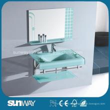 Venta caliente 19 Mm de lavabo de baño de vidrio con certificado