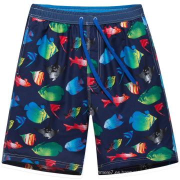 Pantalones cortos del tamaño grande de los hombres del OEM traje de baño que practica surf que practica surf