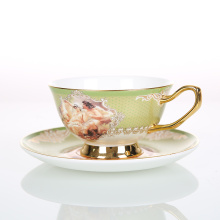 Popular style business coffee cups with saucer