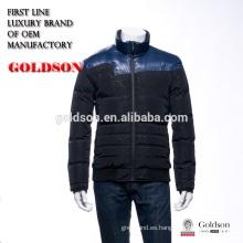 2016 nuevos hombres calientes diseñados calientes del precio de fábrica de la luz suave abajo chaqueta