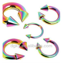 Rainbow Titanium Anodized Surigical Steel HorseShoe