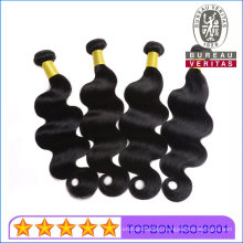 Human Hair Remy Wefts Wigs Good Quality 100% Real Brazilian Hair Human Hair Extensions No Shedding Black Body Wave Double Drawn Thick Hair End