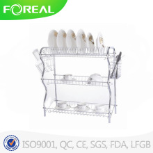 Chromed Metal Wire 3-Layer Plates and Dish Rack