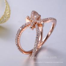 bijoux en argent sterling approvisionnement rose plaqué or hip hop bijoux