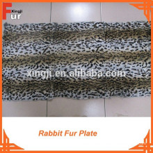 Sheared & Leopard Printed Rabbit Fur Plate