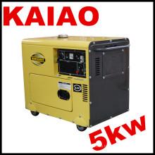 Бесшумный дизельный генератор мощностью 5 кВт (KDE6500T)