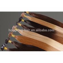 Extensiones de cabello ombre queratina plana punta 1 gramo por hilo