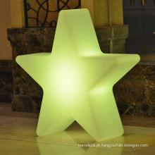 forma de estrela de Natal decoração de árvore de Natal de metal de luzes led de iluminação