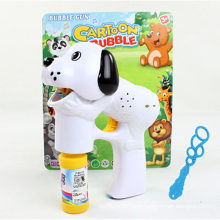 Electric Flash & Music Dog Shape Bubble Gun Toy