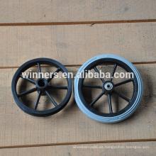 Rueda espumada de 190 mm pequeña PU, rueda giratoria