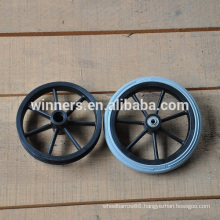 190mm small PU foamed wheel , caster wheel