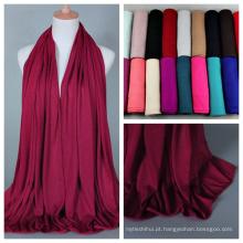 2017 popular mais recente coleção única quente colorido cachecol muçulmano hijab para senhora atacado