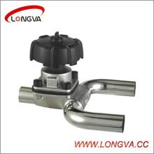 Válvula de diafragma de aço inoxidável sanitária tipo U