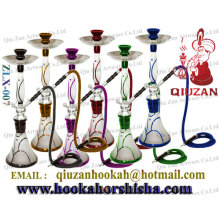 Beautiful Large Smoking Hookah With Colored Fringe On The Vase