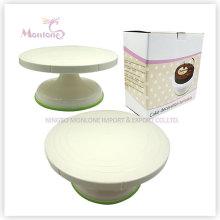 Suporte da plataforma giratória de decoração do bolo 27 * 13, suporte revolvendo do bolo